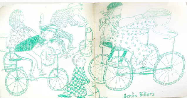 berlin bikers sketch