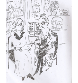 ladies reading sketch